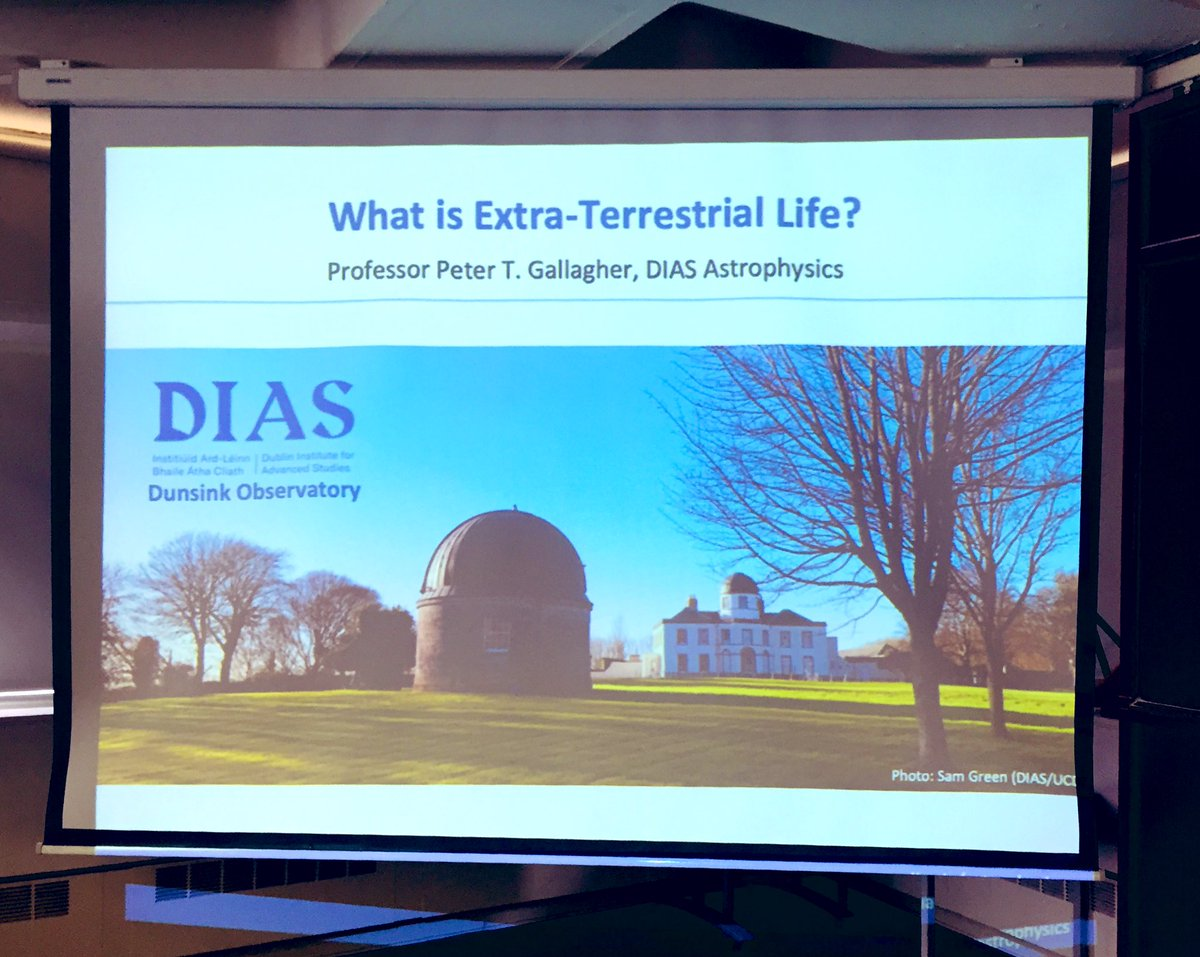 test Twitter Media - Today at DIAS Professor @petertgallagher is answering the question 'What is Extra-terrestrial Life?'. This is the first talk in a four-part public lecture series exploring 'What is Life?', famously considered by Professor Erwin Schrödinger in 1943. #DIASdiscovers https://t.co/r56bAskRPe