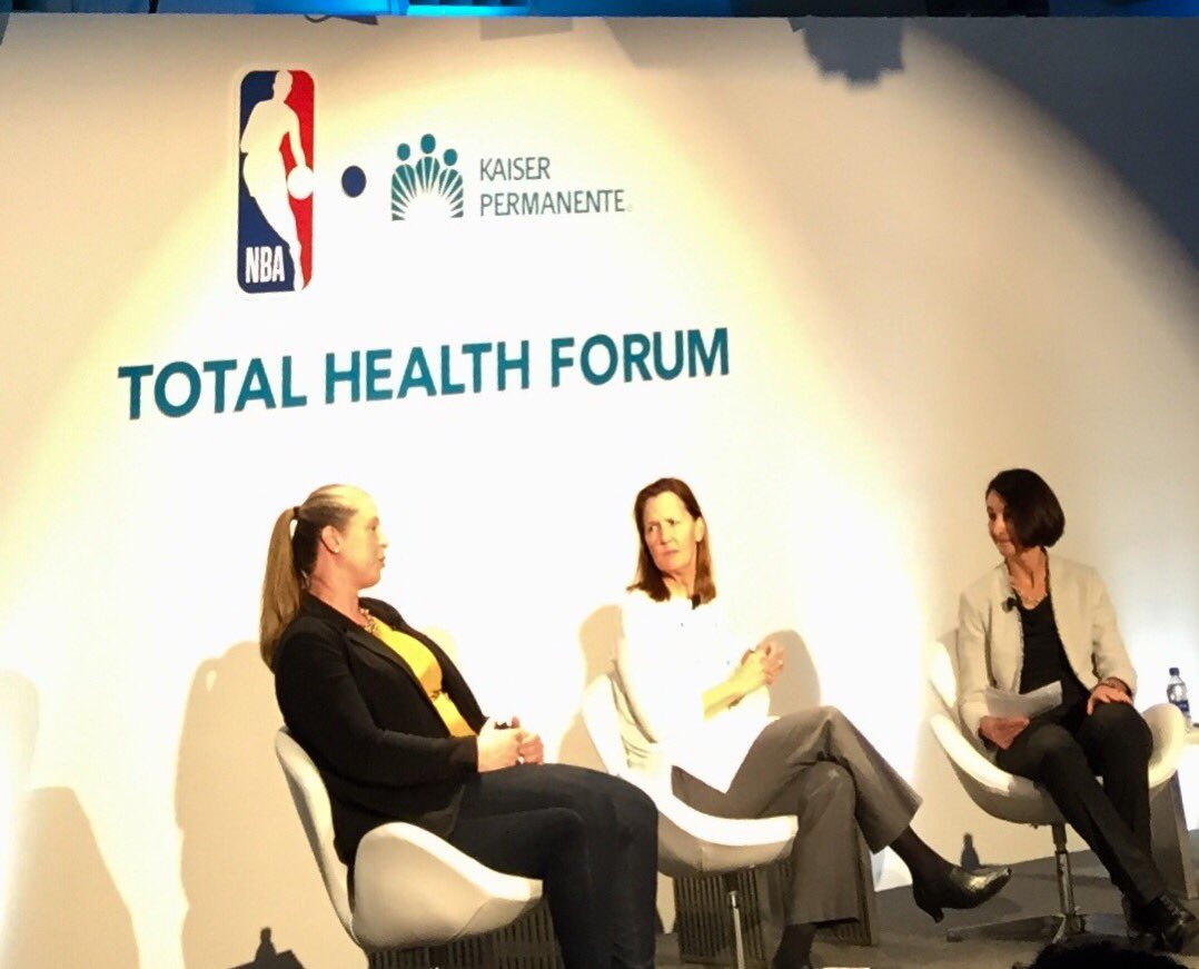 Inspiring to hear my friend @kathybor tell her story and share the role that sports played in preparing her for the extraordinary impact she has had on the @NBA and the @WNBA not to mention communities and people around the world. #TotalHealthForum