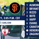 Here is today's #Cubs starting lineup at @SloanParkMesa. https://t.co/f2QrsaPYi0