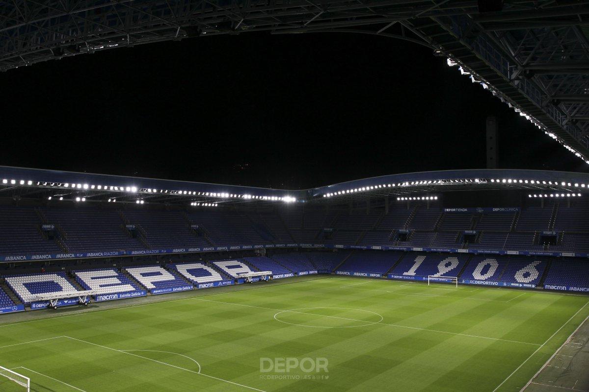 La nueva iluminación de Riazor (Foto: RC Deportivo).