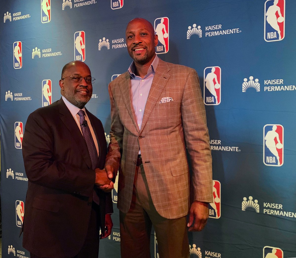 Excellent conversation with NBA Hall of Famer Alonzo Mourning on addressing #mentalhealth and working to make communities strong through education so we can all live a healthier life. Looking forward to a great event at our #TotalHealthForum.