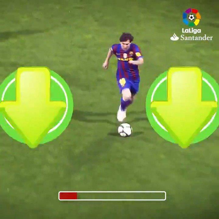 🔙 2010  Há 9 anos, Messi marcava esse gol, em um de seus 33 hat-tricks na #LaLigaSantander!