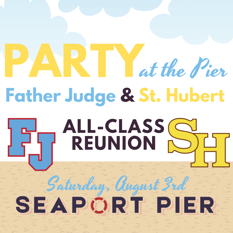 The infamous Rock at the Dock is coming back this summer as Party at the Pier! Save the date and join us at @SeaportPier in North Wildwood. Can't wait to see all the Crusaders and @StHubertBambies in August! ☀️ #PartyAtThePier