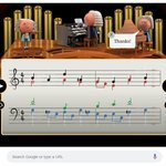 We've had fun in the office today celebrating Bach with the #GoogleDoodle not sure if we've created a masterpiece though, we'll leave that to our musicians!