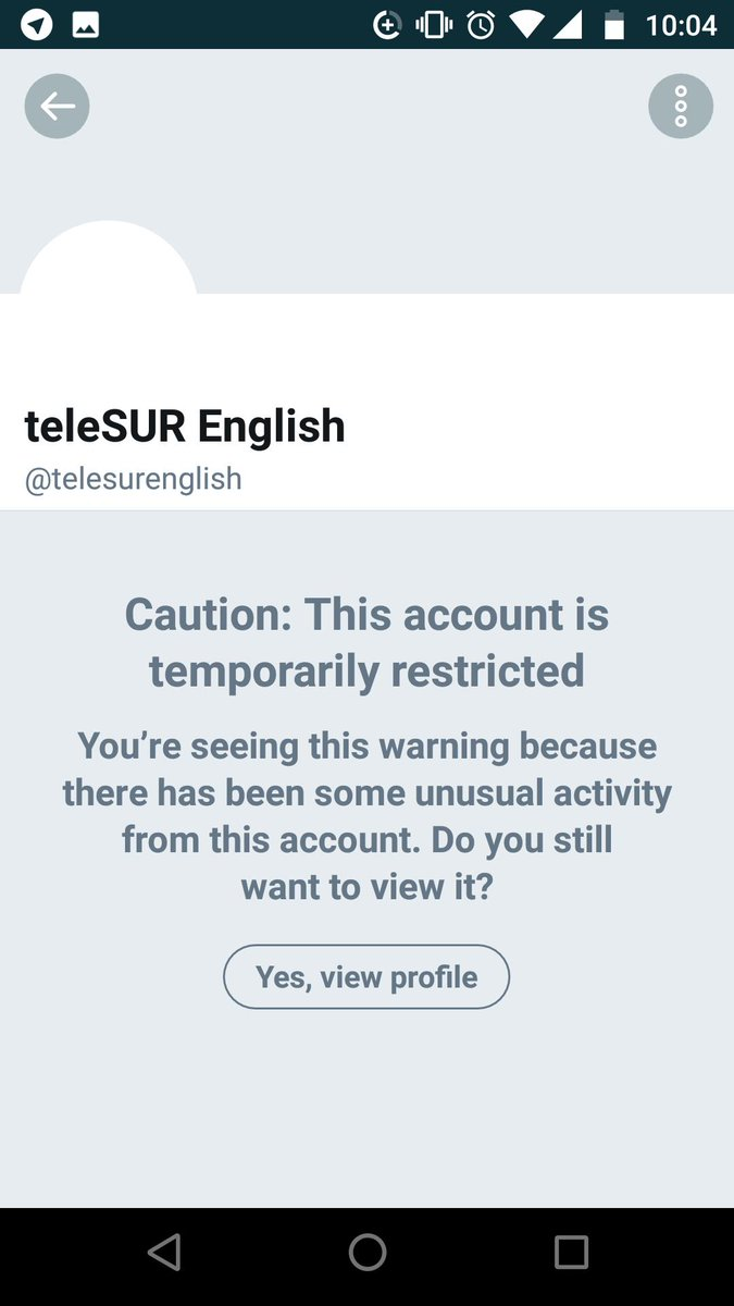 In another outrageous example of censorship of left-wing alternative media, @Twitter has inexplicably &quot;temporarily restricted&quot; the account of leftist Latin American outlet @teleSUREnglish.  This comes while the US is leading a coup attempt against Venezuela, which funds TeleSUR<br>http://pic.twitter.com/A1nIaEL5Sz
