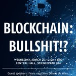 "Image for the Tweet beginning: @articonf ""Blockchain, Bullshit!?"" It was"