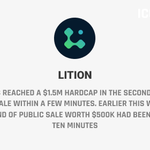 Image for the Tweet beginning: .@Lition_Block has reached a $1.5M