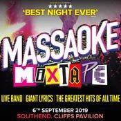 New event! @massaoke Mixtape, Friday 6th September at Cliffs Pavilion @SouthendTheatre Tickets on sale 10am tomorrow! Get your tickets here: https://t.co/KLsSoJfj2b https://t.co/dJa8VTWFan
