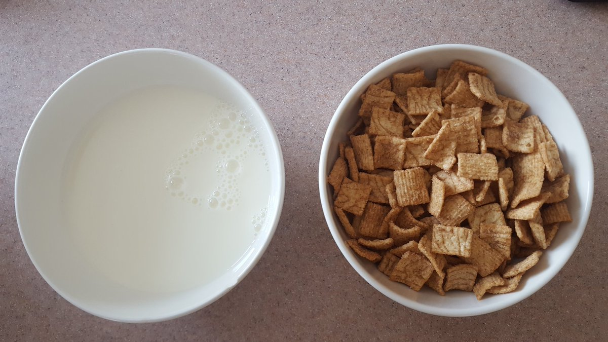 The bowl on the right is correct.