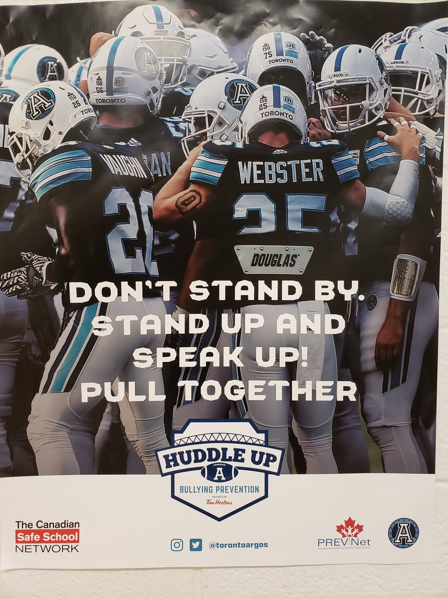 An amazing presentation with Toronto Argonauts Huddle Up Bullying Prevention #pulltogether #standupandspeakup @suefried @HumberviewSSpic.twitter.com/12pRz0cKsy