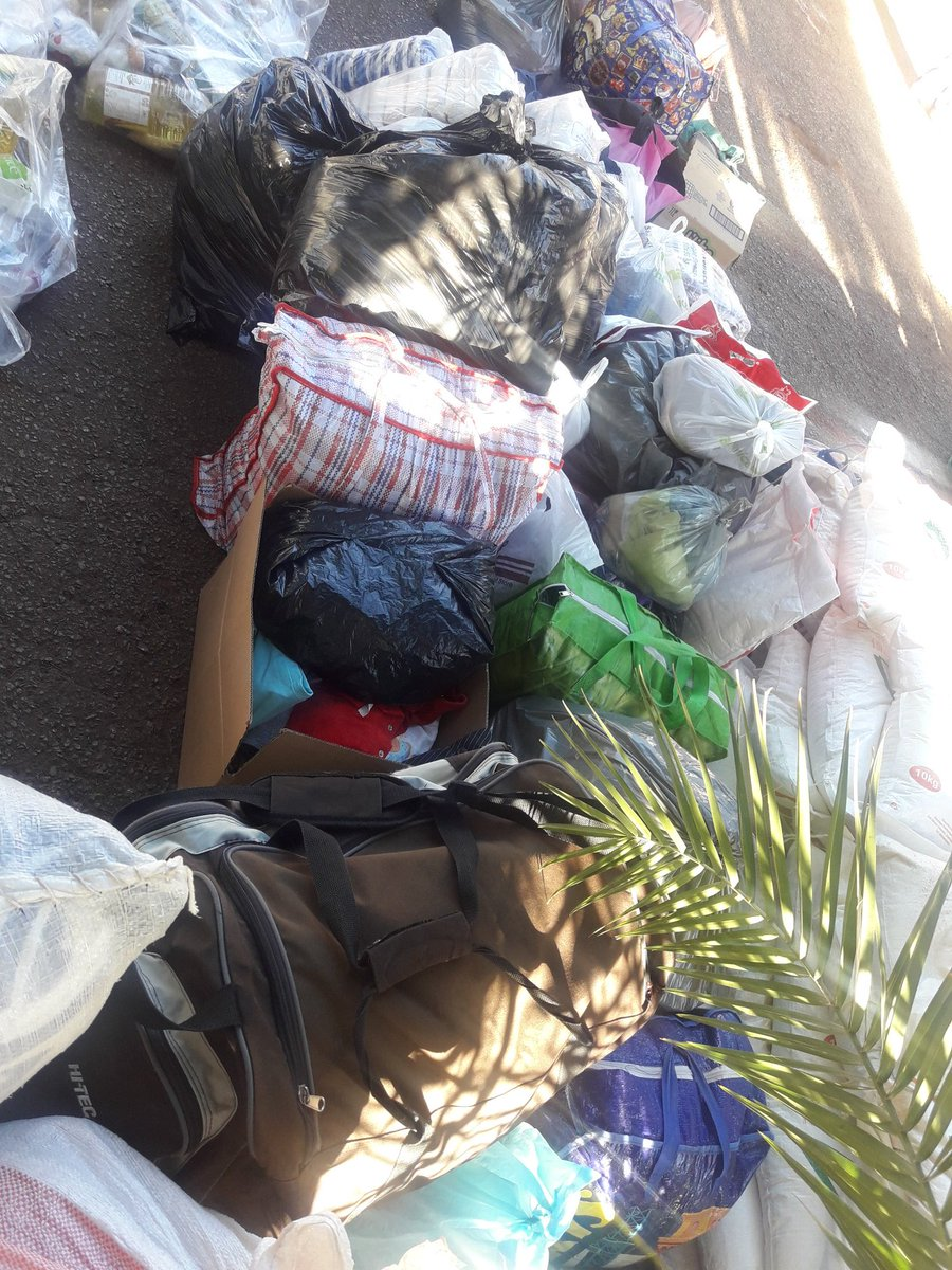 Part  of the clothing donations by TelOne staff towards Cyclone Idai disaster. #Togetherwemakeadifference <br>http://pic.twitter.com/OOYwHYF0I1