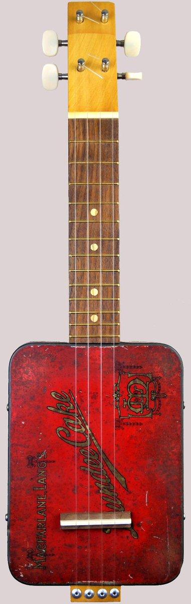 Cig-R Guitars Soprano Canjolele cookie biscuit tin banjo Ukulele