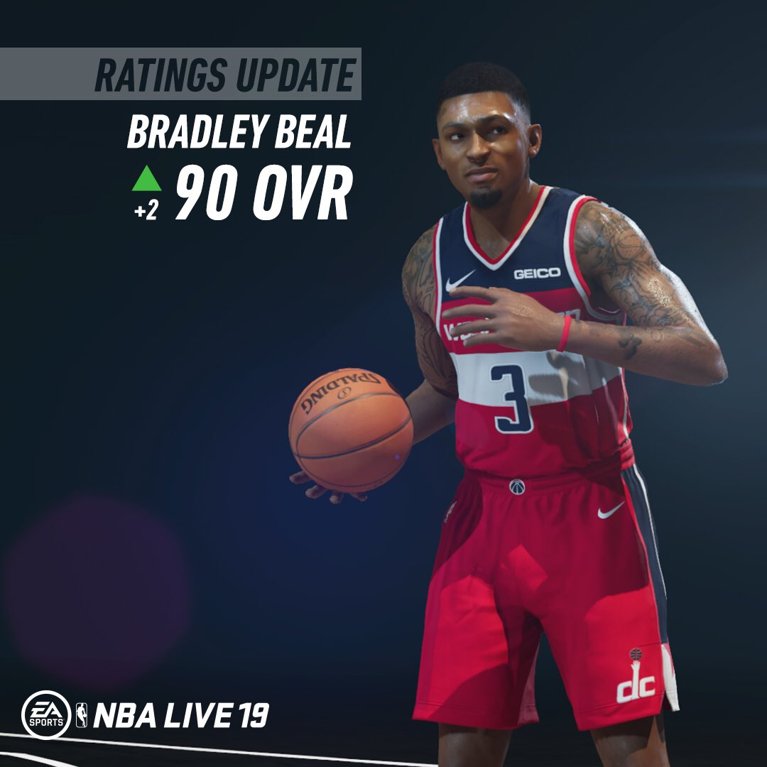 moves up to a 90 OVR in  NBALIVE19 s update!pic.twitter.com Iy6fU9VsOY 6e5a4347b