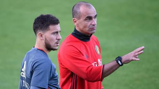 """  Hazard questionné sur sa préférence entre Zidane et R.Martinez:  """" Zidane est mon idole. il m'a fait aimé le football, j'ai tellement de respect lui. Mais pour le travail qu'il a réalisé avec la Belgique je choisirai Martinez."""""""
