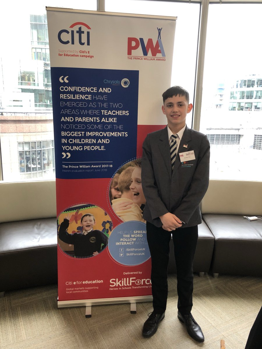 """Bradley - """"I've enjoyed talking to different people about how they would've used the @ThePWAward in their jobs.""""   #DVA #OneTeamChangingWorlds #PrinceWilliamAward"""