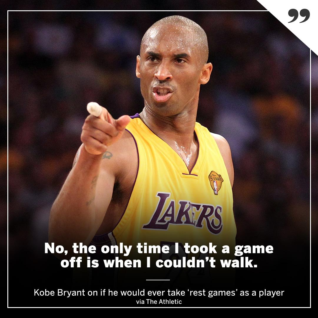 The Mamba Mentality doesn't recognize rest games. https://t.co/Cy1YMNwsbm