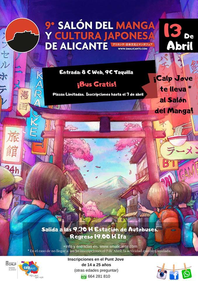 ¿Quieres ir al Salón del #Manga y Cultura #Japonesa de #Alicante? Apúntate antes del 7 de abril con la inscripción que te dejamos aquí ➡️ http://bit.ly/InsSalonManga19 cc @SalonMangaAlc @PuntJoveCalp #Calp #Calpe #comic