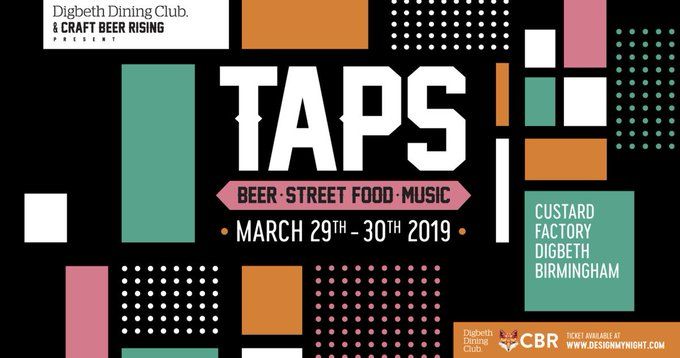 Image for We're back at @TAPSBEERFEST in #Birmingham It's gonna be a good'un. We'll be taking a bunch of our new specials plus some classics, so make sure you check us out!!! See you on 29th & 30th! https://t.co/mSF9jezhmM