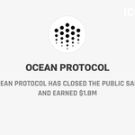 Image for the Tweet beginning: .@oceanprotocol has closed the public