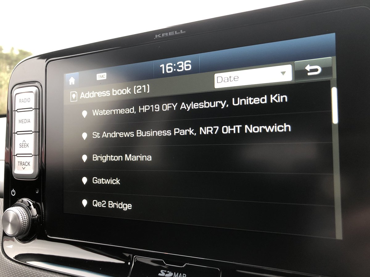 In one of our Kona Electrics & judging by the nav, this is one of our Kona Rally cars 🚗🏁