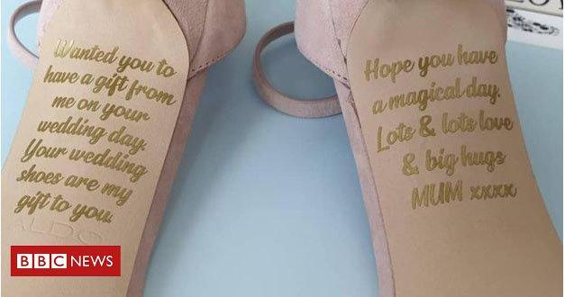 10e33c4393 apos descobrir doenca terminal mae grava mensagem nos sapatos de casamento  da filha
