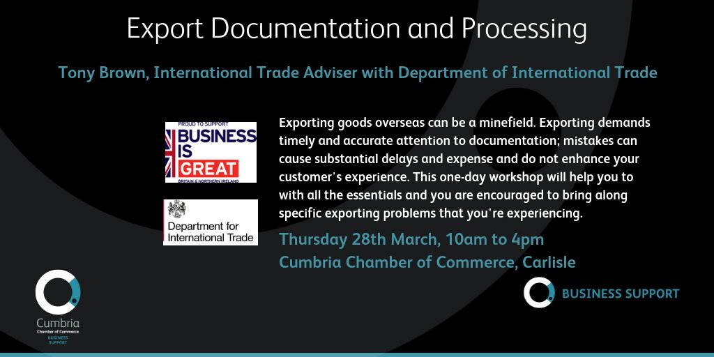 test Twitter Media - Export Documentation and Processing workshop - Cumbria Chamber of Commerce, Carlisle, 28th March - more info and booking via https://t.co/5zzknTlCxj @tradegovuk https://t.co/DHJzxNbEyD