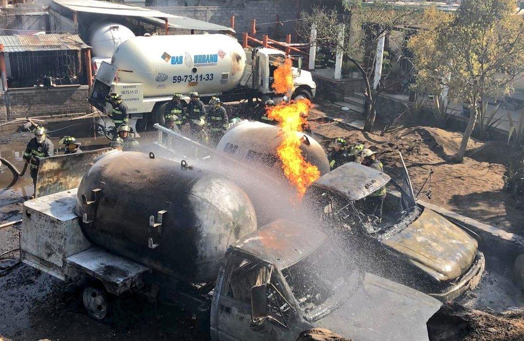 Hay 4 heridos por incendio de pipa en Milpa Alta | La Crónica de Hoy