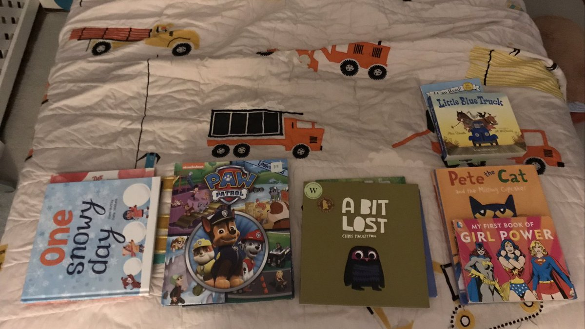 This is taking a reading plan up a notch. He planned out his bedtime reading for the whole week: three books a night. <a target='_blank' href='http://search.twitter.com/search?q=avidreader'><a target='_blank' href='https://twitter.com/hashtag/avidreader?src=hash'>#avidreader</a></a> He continues to sleep in his bed every night and leave his plan in place. <a target='_blank' href='https://t.co/5zqaXAyNnN'>https://t.co/5zqaXAyNnN</a>