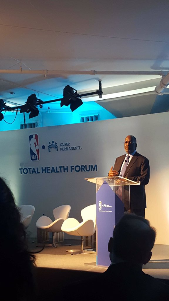 Pleased to participate in @nbacares @KPShare #totalhealthforum where total wellness physical and mental is the focus. #4mind4body #findyourwords