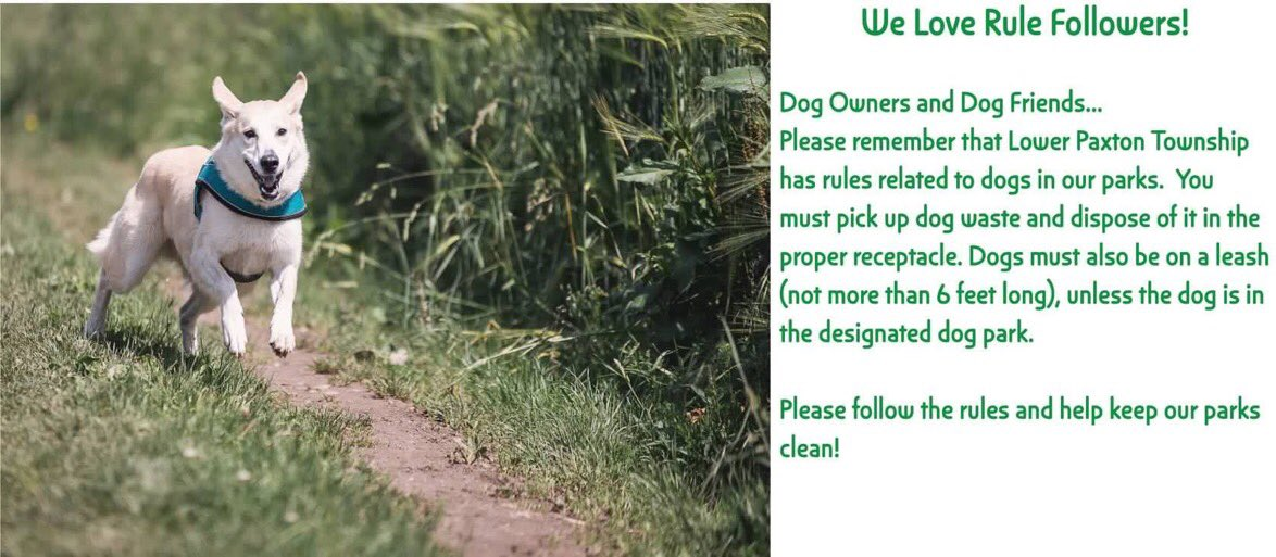 Dog Owners & Dog Friends...🐶 Please follow the rules 😀 #lowerpaxtontwp #dogs
