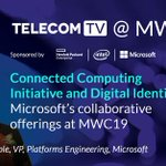 """Erin Chapple, Microsoft, discusses the corporation's connected computing initiative and the expansion of """"Digital Identity"""": https://t.co/XGFRzh5CnW #MWC19 #TTV_MWC19 @MSFTTelco @HPE_Telco #Security #Telecoms #Mobile #Network"""
