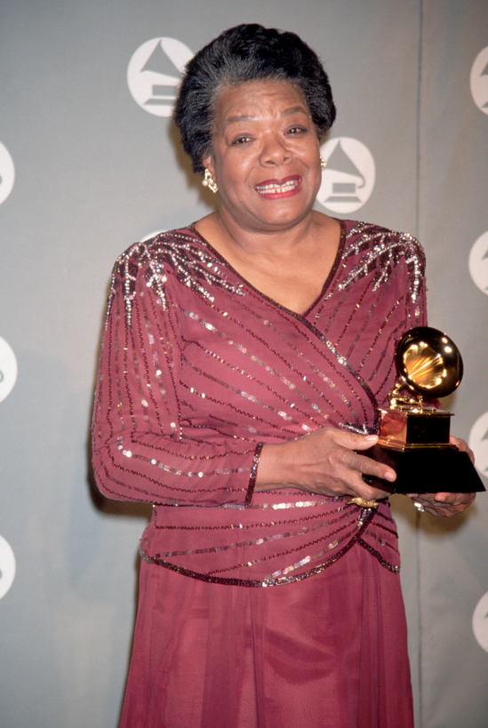 At the 36th #GRAMMYs in 1994, #MayaAngelou took home the GRAMMY Award for Best Spoken Word Or Non-Fiction Musical Album, &#39;On The Pulse Of Morning.&#39;  http:// grm.my/2FjhMJj  &nbsp;   #GRAMMYVault #WorldPoetryDay<br>http://pic.twitter.com/Ax5YDEQ40E