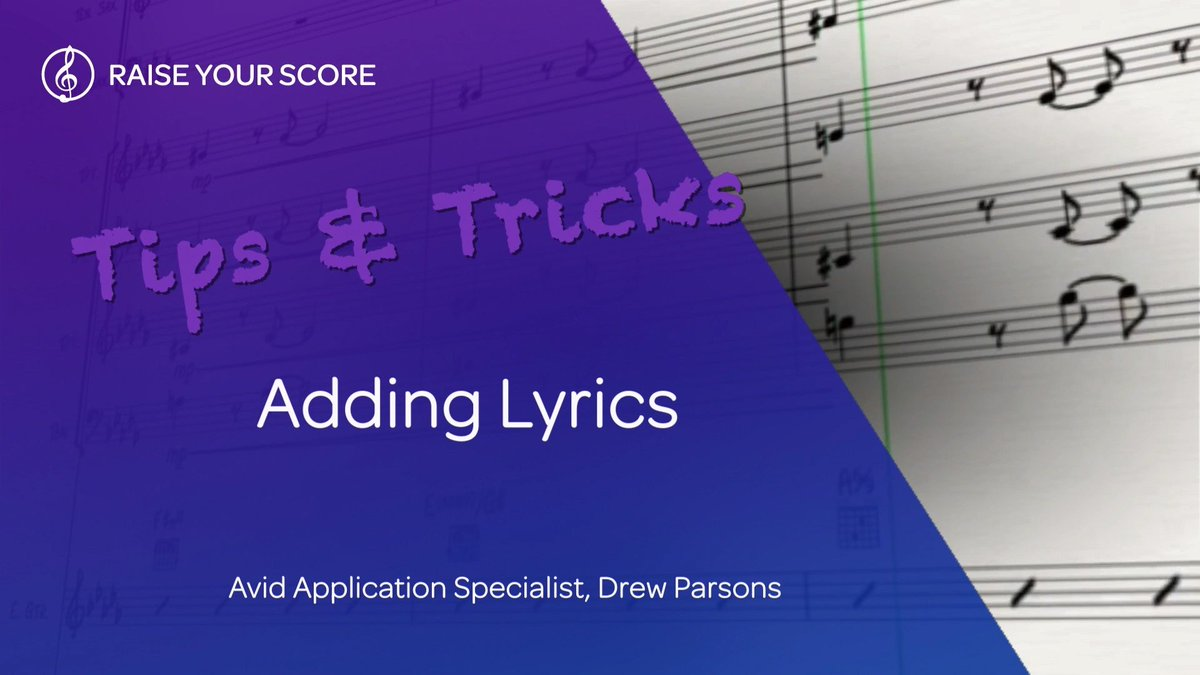 Check out these shortcuts to quickly add lyrics to your score in Sibelius. ⠀ ⠀ WATCH THE VIDEO ▶️ https://bit.ly/2S1mjse ⠀ ⠀ #avid #sibelius #notation #composing #scoring #orchestrating #tutorial