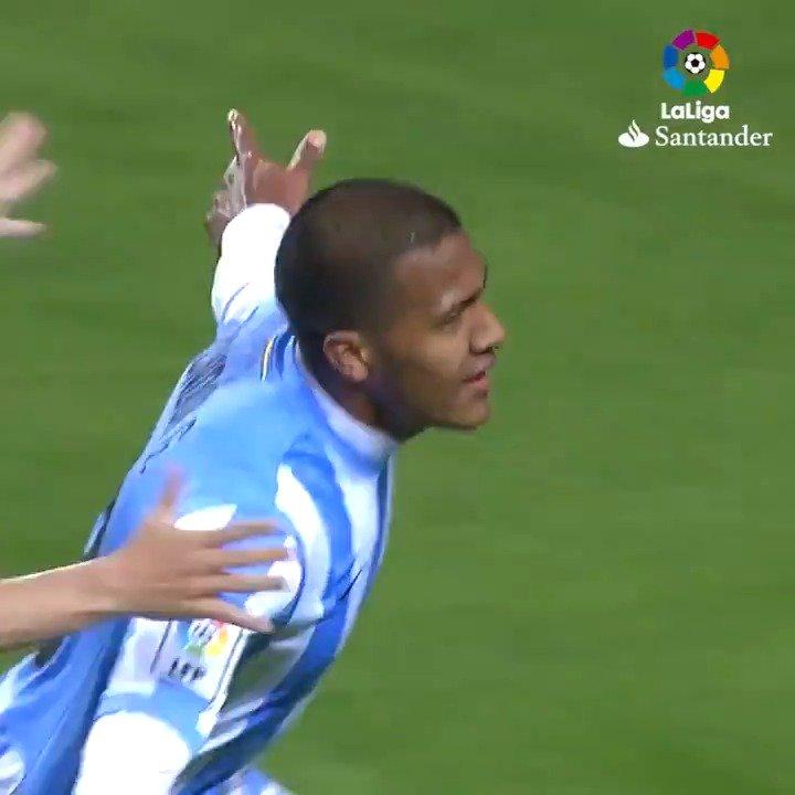 #OnThisDay 🔙 in 2012, @salorondon23 scored this double for @MalagaCF_en! 💙🇻🇪 #LaLigaSantander