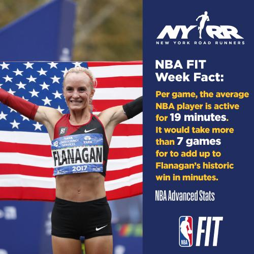 Running is a crucial part of every sport. In honor of the last day of #NBAFIT Week 2019, we're highlighting how much running goes into an #NBA game. NYRR is so excited to be joining forces with the @NBA to promote healthy and wellness. @nbacares #RisingNYRR #NYRRYouth20