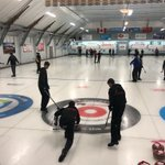 Image for the Tweet beginning: Day 2 of #OFSAACurling with