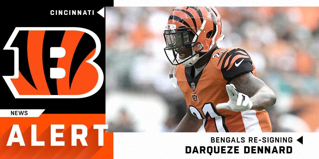 Bengals re-signing former first-round CB Darqueze Dennard. (via @TomPelissero)<br>http://pic.twitter.com/Q6KOfduGqQ