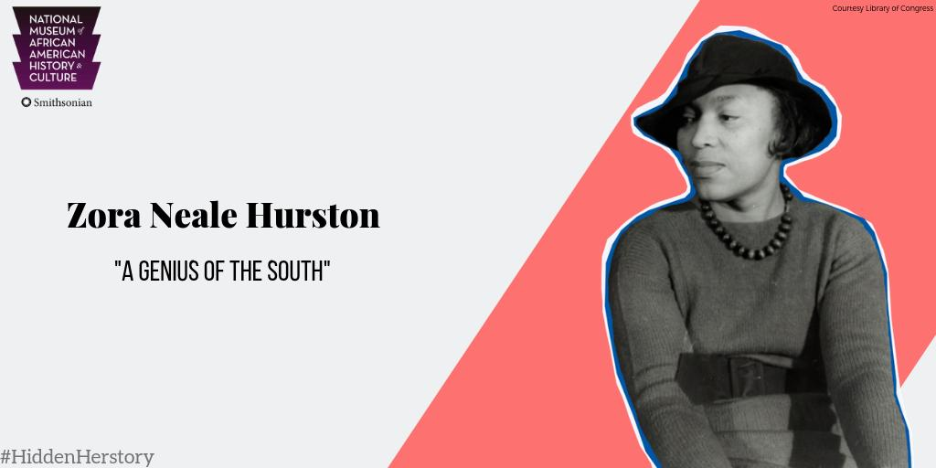 Zora Neale Hurston was one of the literary architects of the Harlem Renaissance, and a unique voice reflecting the experiences of the rural southeast. In 1925, she moved to New York and became involved in the cultural and literary movement. #HiddenHerstory https://t.co/hkMvOiY2uT
