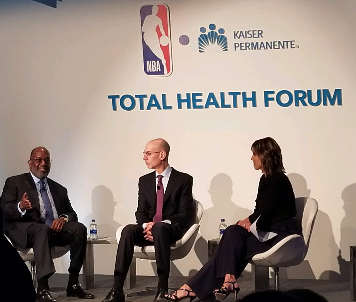 .@BernardJTyson and @NBAAdamSilver sit down for an intimate conversation with @HannahStormESPN to talk through the roles leaders and organizations have in building healthier generations and destigmatizing mental health #TotalHealthForum #resilience
