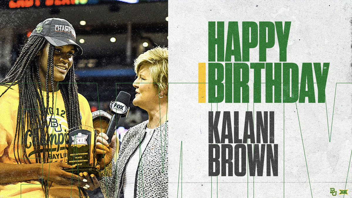 HAPPY BIRTHDAY to our senior @kalanibrown21!  Hope your day is great!   #SicEm<br>http://pic.twitter.com/9pI6T6PkyA