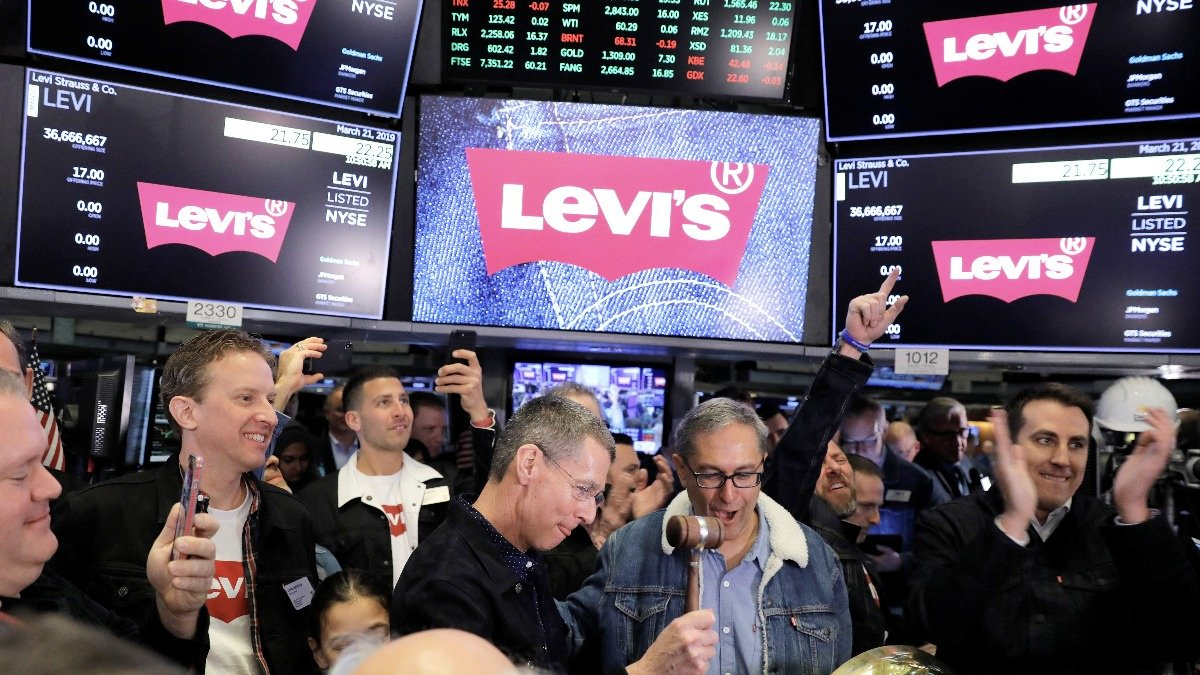 Levi's soars in stock market return https://reut.rs/2FrY27C