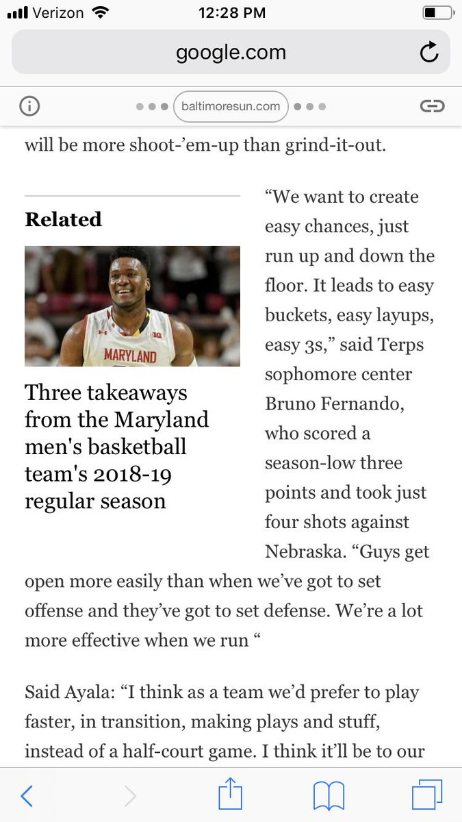 Hmm. the team wants/likes to play fast but Mark doesn't. Puzzling statement by Bruno and completely incongruent with what we've seen of Terps hoops under Turgeon. <br>http://pic.twitter.com/gLVL9QKhyU