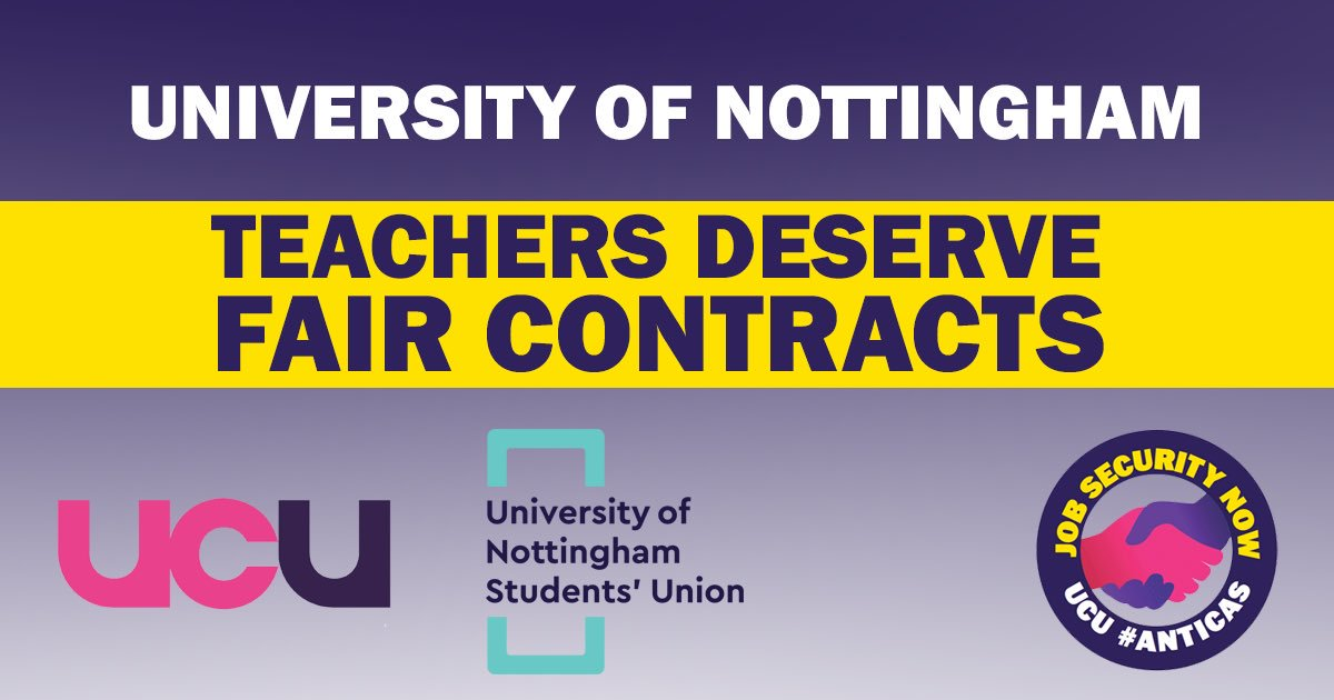 University of Nottingham UCU branch (@UoNUCU) | Twitter