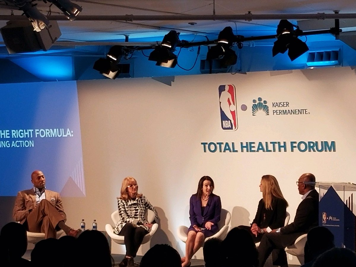 Cosette Taillac joins @NBA legend, Alonzo Mourning and others on-stage to share the roles individuals and organizations have in taking a proactive approach to total health through mental health awareness and instilling #resilience across generations #TotalHealthForum @NBACares