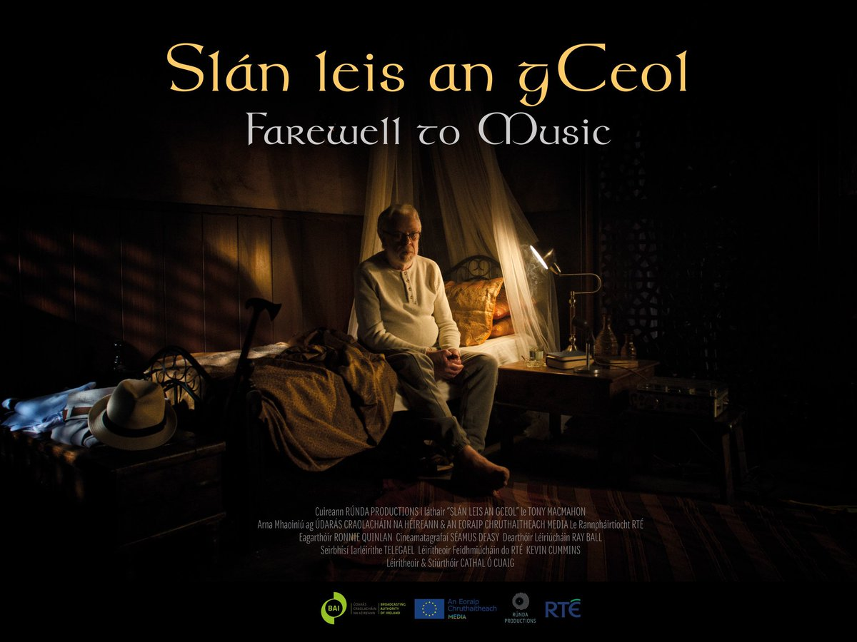 "Film-maker Cathal Ó Cuaig is our next guest, to chat about his tribute to one of the great figures in Irish trad music, Tony McMahon - ""Slán Leis an gCeol"" @CathalOCuaig"