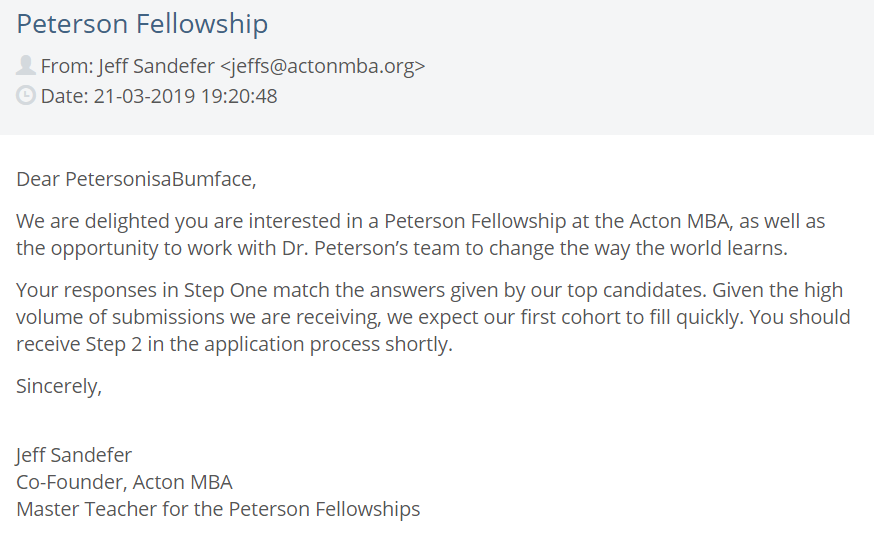 3c48f9e37ecb Lobsters realize the Peterson Fellowship Acton MBA is a scam which ...