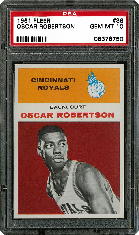 Here's Oscar Robertson's rookie card. Robertson was so dominating during his NCAA days, they eventually named the College Player of the Year Award after him. #MarchMadness