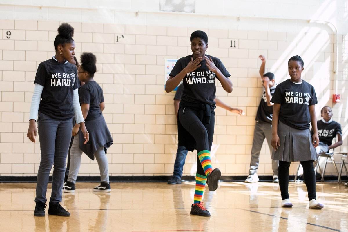 Today is the last day of #NBAFIT Week — check out photos from our Fit Clinic earlier in the week!  📸 | http://netsnba.team/agxppwn