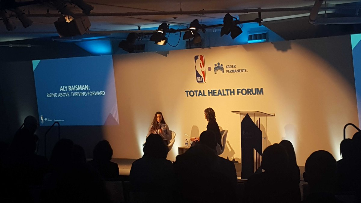 """To help others, you have to help yourself."" - @aly_raisman  #TotalHealthForum #4mind4body"