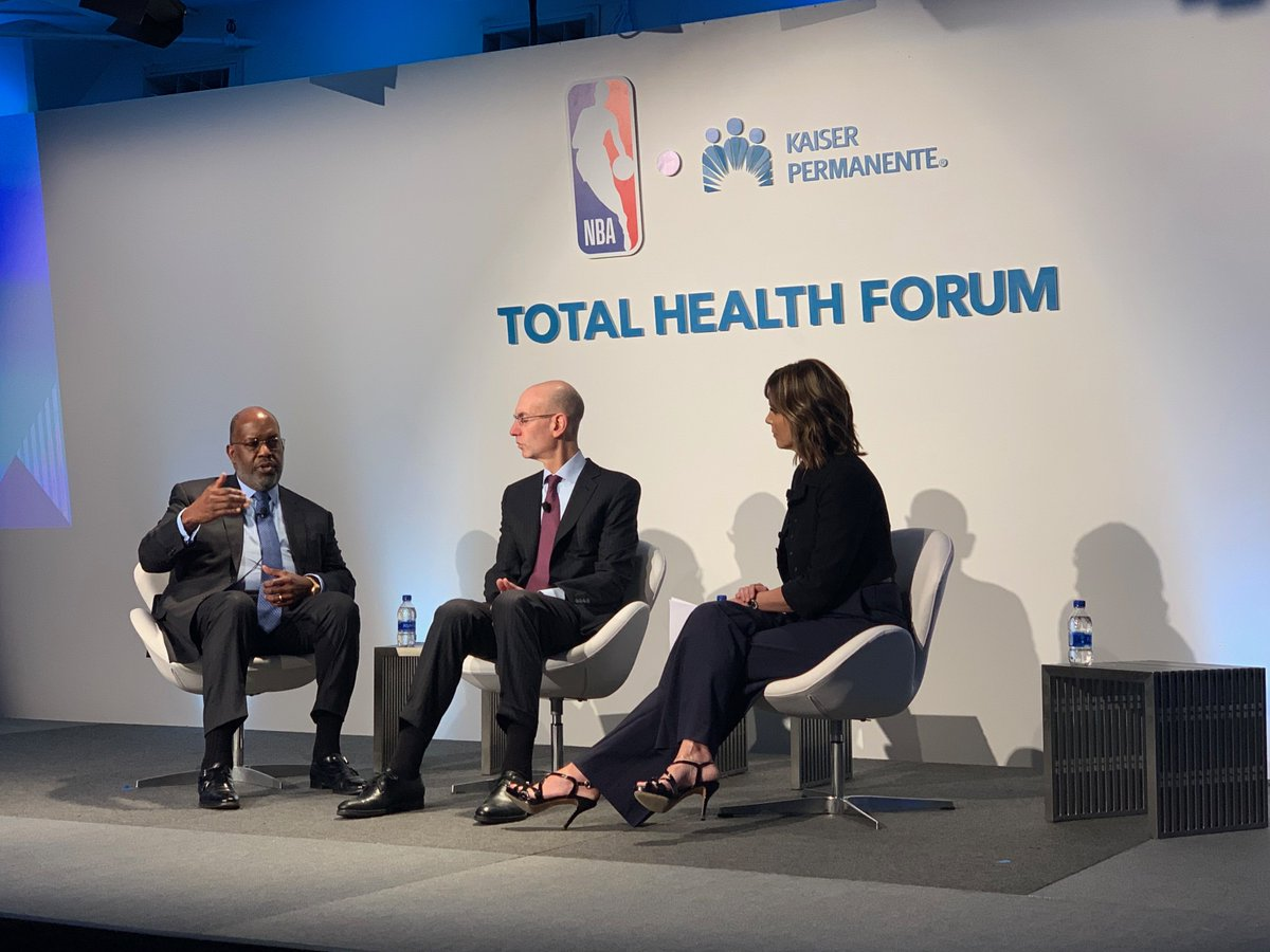 I had a great conversation with @NBA's Adam Silver and @HannahStormESPN about what leaders can do across business, sports and education to support #mentalhealth resilience. #TotalHealthForum